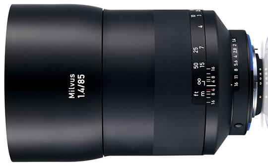 ZEISS Milvus 85mm f/1.4 ZF.2 Lens