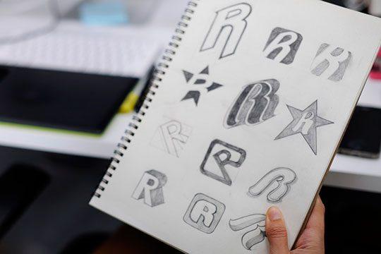 logo-design-font-sketch