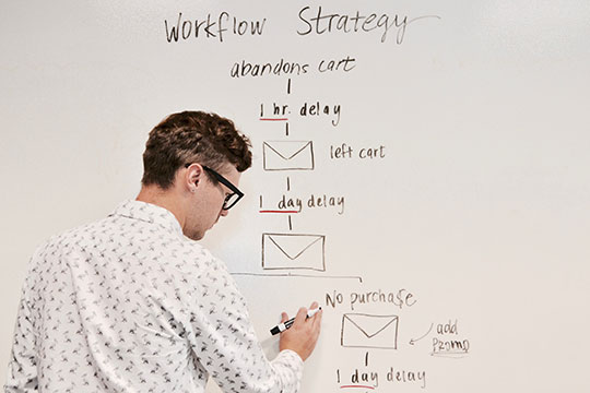 White-Board-Writing-Meeting-Worksheet-Flow-Startegy-Marketing