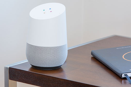 Speaker-Google-Assistant-Technology-Smart-Home-Gadget