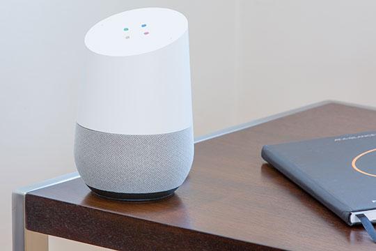 Speaker-Google-Assistant-Technology-Smart-Home-Gadget