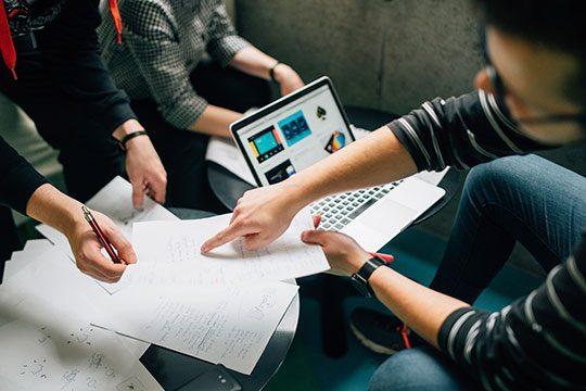 Work-Team-Communication-Office-Commerce-Meeting-Plan