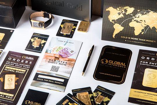 gold-chip-sticker-card-business-brochure-pen
