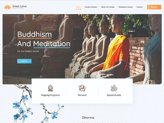 great-lotus-buddhist-temple-wordpress-theme