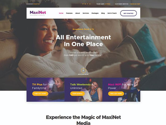 maxinet-broadband-telecom-wordpress-theme