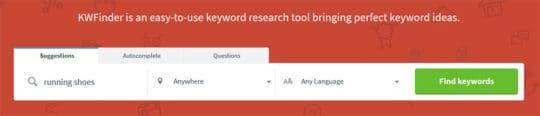 KWFinder-Find-keywords
