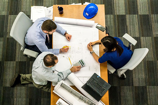 architect-blueprint-construction-design-plan-project-teamwork