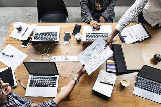 web-design-development-team-work-office-plan