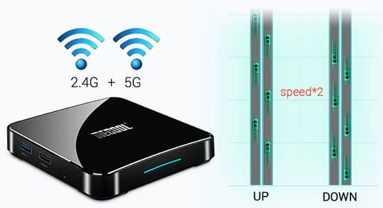 MECOOL KM3 Android Voice Control TV Box - 4