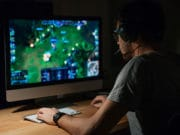 video-game-design-development-work-desk-play-monitor