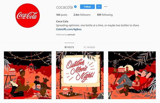Coca-Cola-Instagram-account