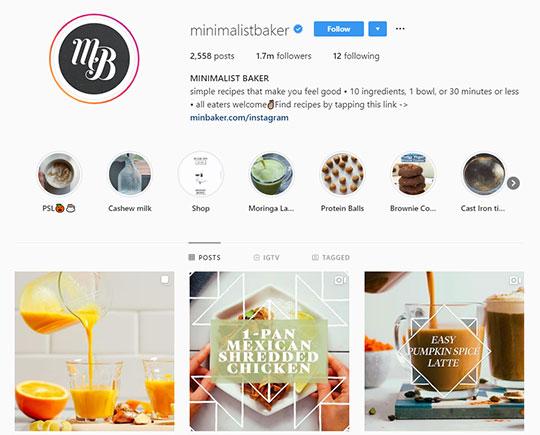 Minimalist-Baker-Instagram-account