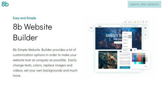 8b Website Builder - 1