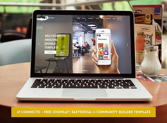 JF Connecto - JoomForest Free Joomla Templates