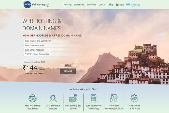 webhostingpad.in-features