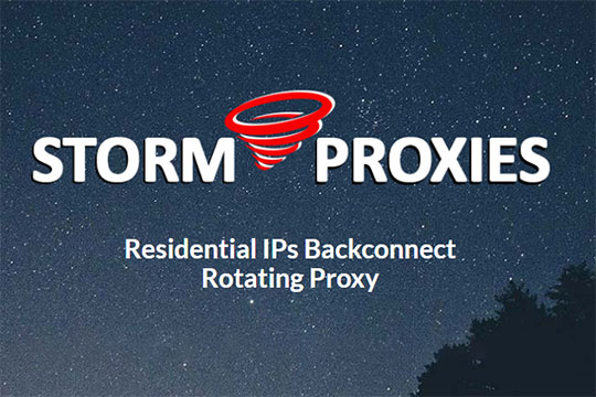 Residential Proxies by Storm Proxies