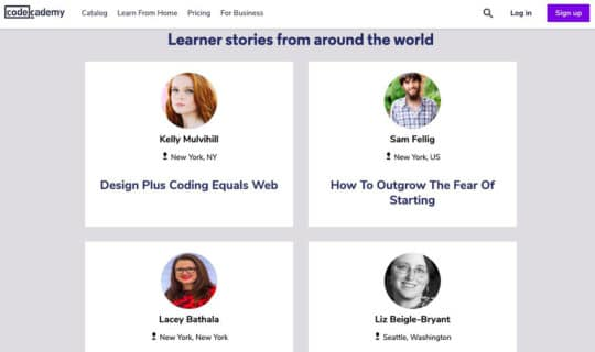 Codeacademy-landing-page-content