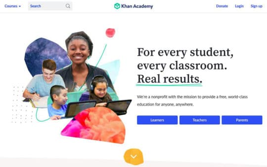 Khan-Academy-landing-page-content