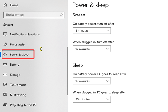 windows-10-power-sleep-settings