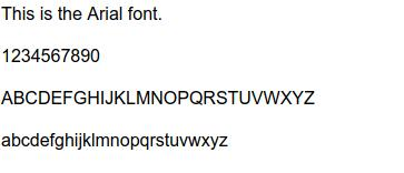 Arial-font
