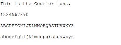 Courier-font