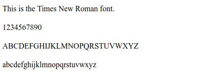 Times-New-Roman-font