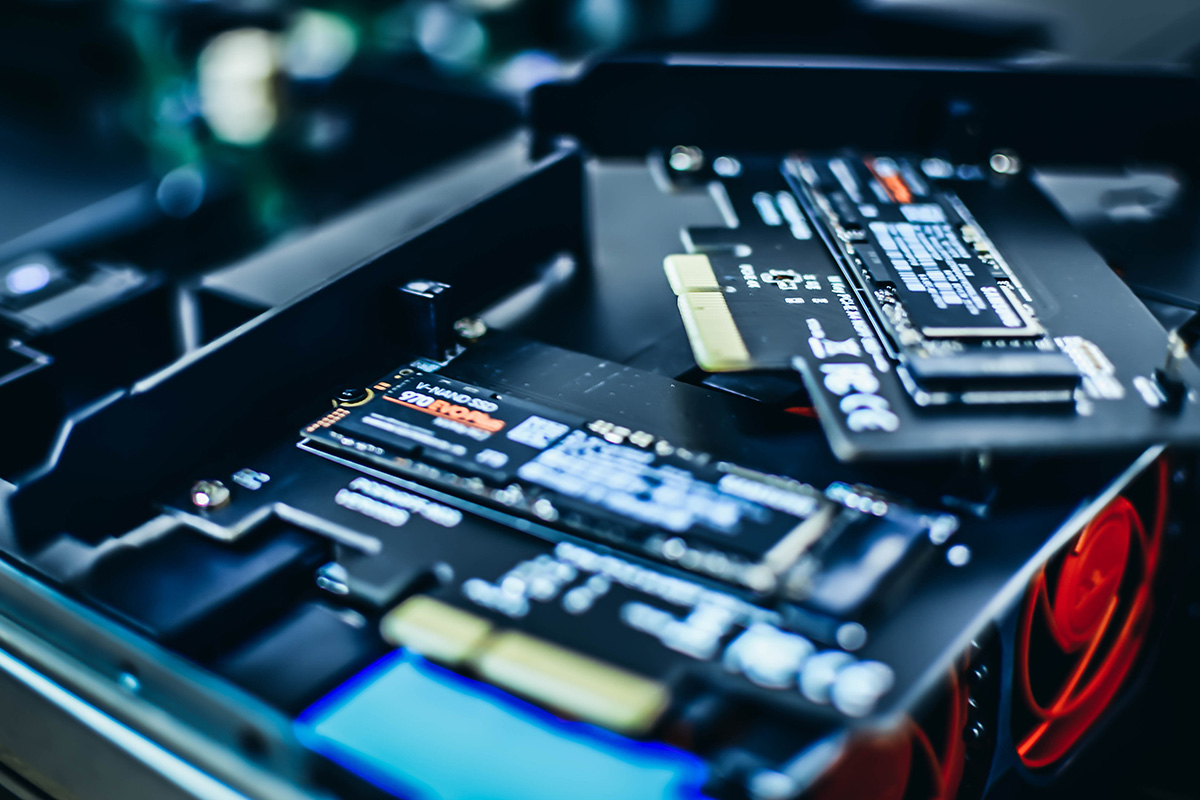 computer-hardware-electronic-chip-CPU-data-SSD-storage-drive