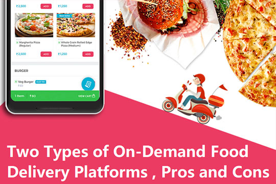 Two Types of On-Demand Food Delivery Platforms – Pros and Cons