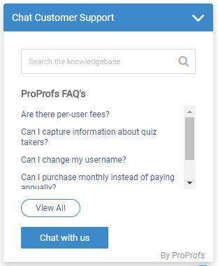 proprofs-chat-integration
