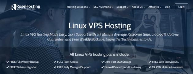 rosehosting-managed-linux-vps-hosting-screenshot