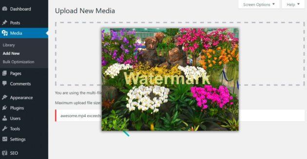 WordPress-Dashboard-Media-Upload