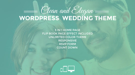 Ulemulem  3in1 - Clean Modern Simple Wedding Invitation WordPress Theme