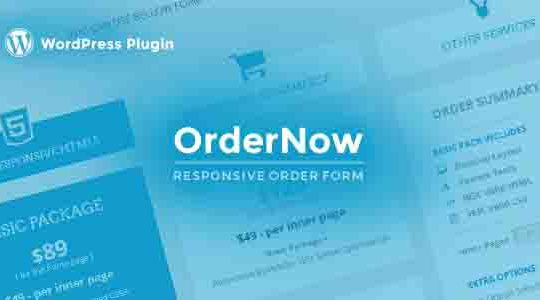 OrderNow - Responsive Order Form WordPress Plugin