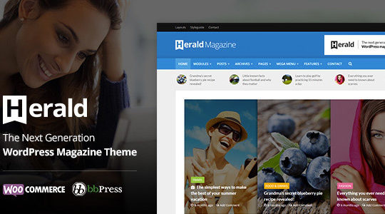 Herald - Newspaper & News Portal WordPress Theme