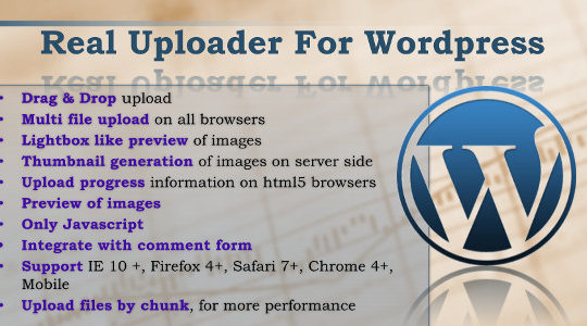 Real Uploader for Wordpress