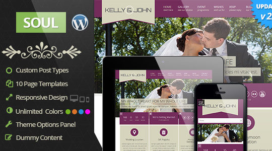 Soul - Responsive WordPress Wedding Theme