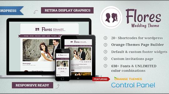 Flores - Elegant WordPress Wedding Theme