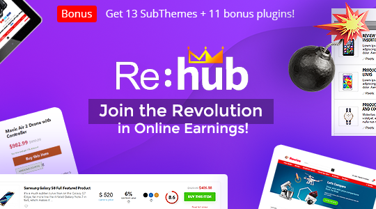 REHub - Price Comparison, Multi Vendor Marketplace, Affiliate Marketing, Community Theme