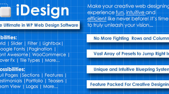 iDesign - The ultimate in WP web design software