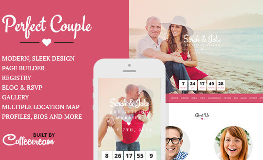 Perfect Couple - Wedding WordPress Theme