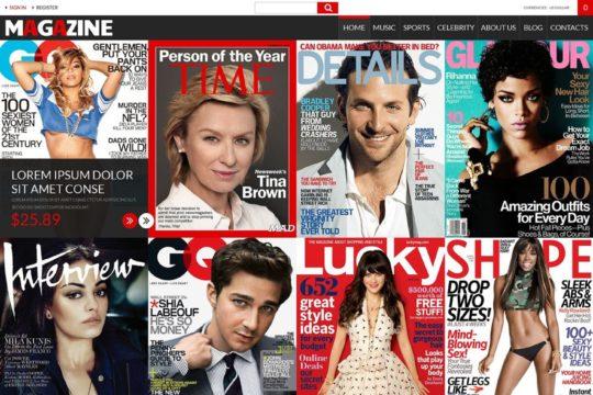 Magazines Store Joomla Template