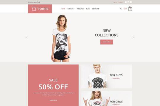 T-Shirt Store Joomla Template