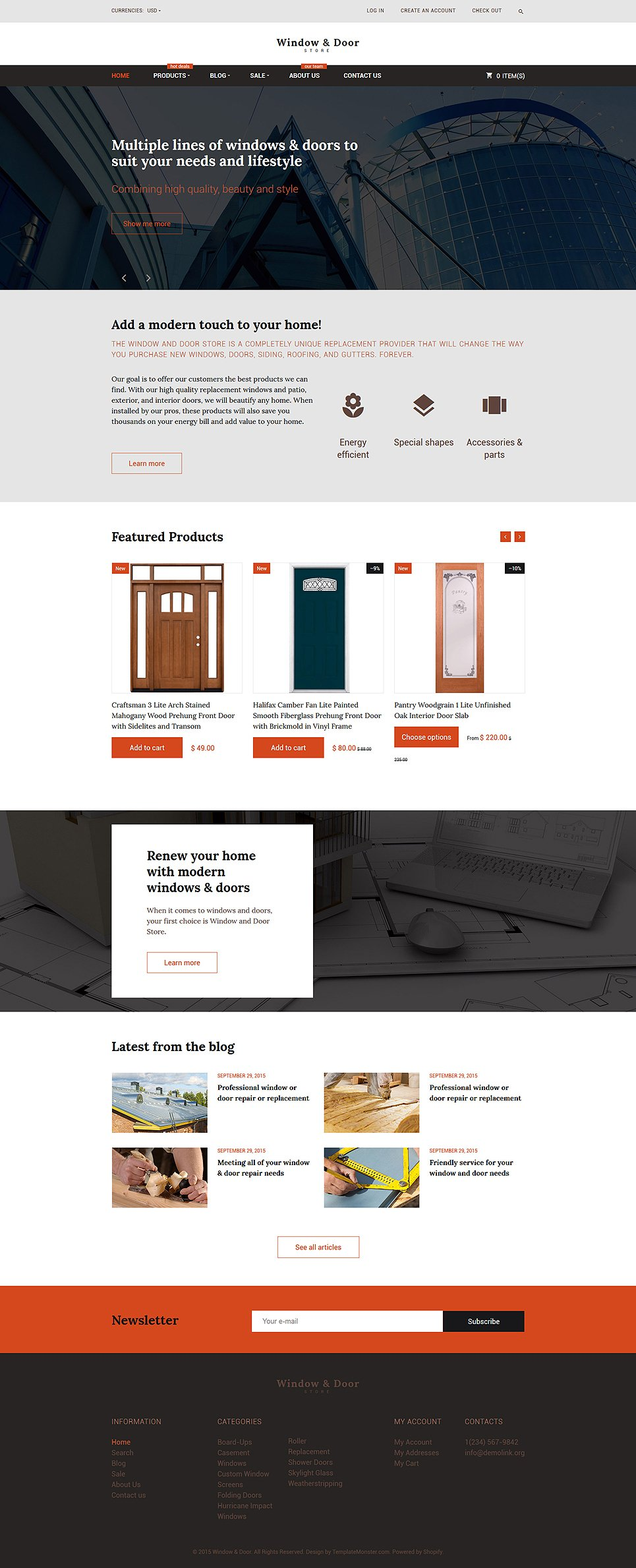 15+ Best Shopify Themes for Interior & Furniture eCommerce Store