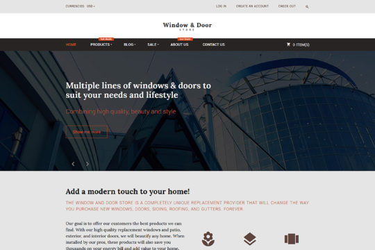 Windows and Doors Store Shopify Theme Shopify Theme
