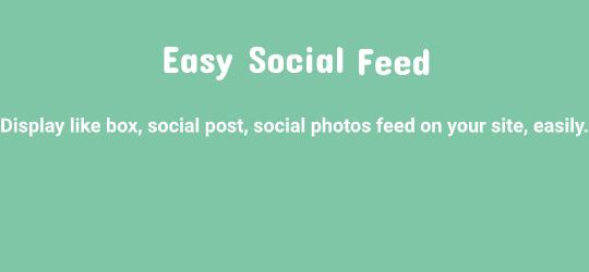 Easy Social Post Feed – Social Photos Gallery – Page Plugin – Like Box