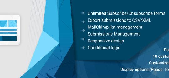 WD MailChimp Forms – drag & drop MailChimp Form Builder plugin