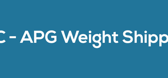 WC – APG Weight Shipping