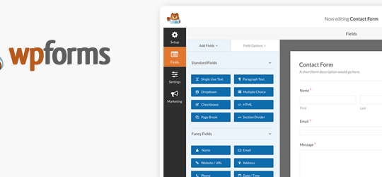 Contact Form by WPForms – Drag & Drop Form Builder for WordPress